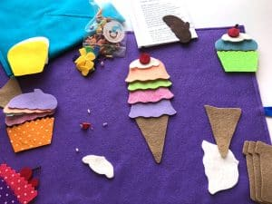 felt ice cream cone play