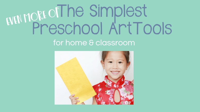 More Simple Preschool Art Tools with little girl holding envelope